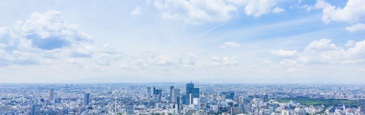 高層ビル群画像